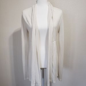 Forever21 Long Off-White Cardigan, M